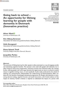 Learning for People with Dementia