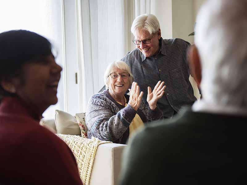 seniors connecting in community